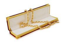 Collier d'or Photo libre de droits