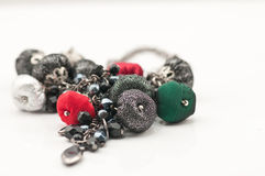 Collier de boucles d'oreille de bijou Photos libres de droits