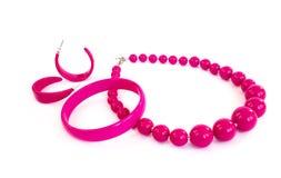 collier de boucles d'oreille de bracelet Photos stock