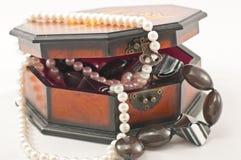 Collier de boucles d'oreille de cadre de bijou Image libre de droits