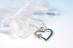 Collier de coeur images stock