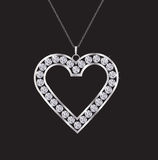 Collier de coeur de diamant Images libres de droits