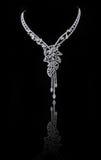 Collier de diamant Images libres de droits