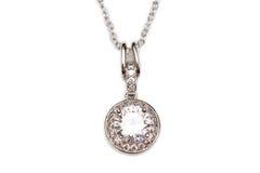 Collier de diamant de pétillement image stock