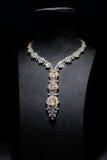 Collier de diamant magnifique de mode Photographie stock libre de droits