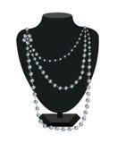 Collier de diamant sur un mannequin noir Image libre de droits