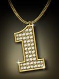 Collier de diamants Images libres de droits
