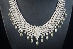 Collier de diamants Photos libres de droits