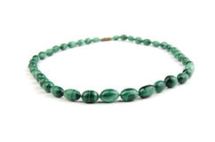 Collier de malachite Photographie stock
