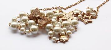 Collier de perle Photographie stock libre de droits