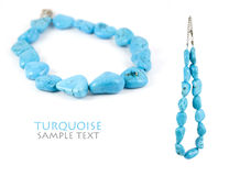 Collier de turquoise Photo libre de droits