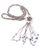 Collier de Violet Gemstone photos stock