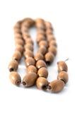 Collier en bois de perles Image libre de droits