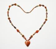 Collier en forme de coeur Images libres de droits