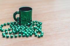 Collier en verre du jour de St Patrick Photo libre de droits