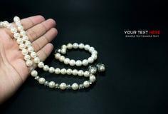 Collier et bracelet de perle Photo stock