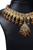 Collier indien d'or Photo stock