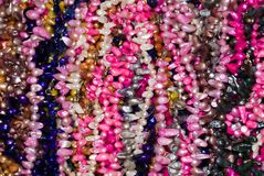 Collier perlé coloré Photographie stock