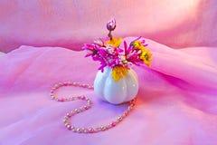 Collier perlé en forme de coeur Photographie stock