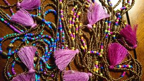 Collier perles colorées. Collier artisanal perles inspiration India royalty free stock images