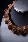 Collier réglé de platine de bijou Images stock