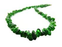 Collier semi-précieux de perles de Chromediopside Images stock