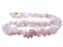 Collier semi-précieux de perles de Cuncite Photo libre de droits