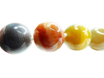 Collier semi-précieux de perles de jaspe Images libres de droits