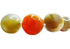 Collier semi-précieux de perles de jaspe Photographie stock libre de droits