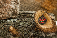 Collier sur un arbre photo libre de droits
