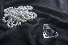 Diamant et collier Image libre de droits