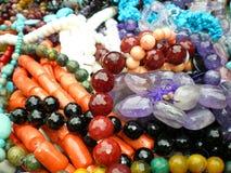 Colliers abstraits de pierre gemme Photo libre de droits