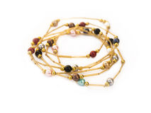 Colliers africains de perle Image libre de droits