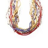Colliers africains multicolores de perle, Sénégal Images libres de droits