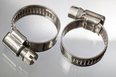 Colliers de la conduite d'acier inoxydable Images libres de droits