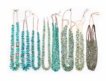 Colliers de Natif américain de turquoise de vintage Photographie stock