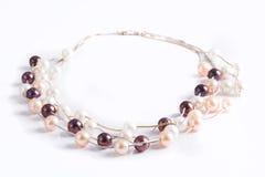 Colliers de perle Photo libre de droits