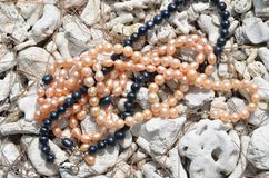Colliers de perle photos stock