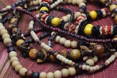 Colliers en bois Images stock