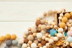 Colliers tricotés de perles Photographie stock