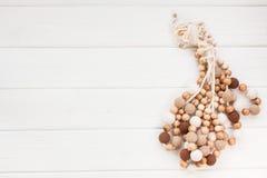 Colliers tricotés de perles Image libre de droits
