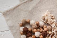 Colliers tricotés de perles Images libres de droits