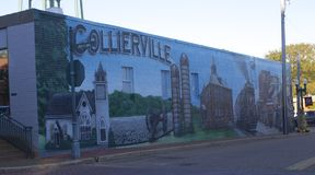 Collierville Tennessee colorful and unique Mural Royalty Free Stock Images