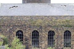Colliery Chatterley Whitfield, теперь закрытый и в потребности реконструкции стоковые фотографии rf
