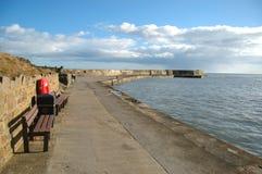 Collieston hamn, Aberdeenshire Arkivbilder