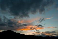Collina al tramonto Fotografia Stock Libera da Diritti