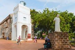 Collina & chiesa del ` s di St Paul nel Malacca fotografia stock
