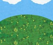 Collina con cielo blu Immagine Stock Libera da Diritti