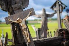 Collina degli incroci, vicino a Siauliai, la Lituania, dettaglio Fotografie Stock Libere da Diritti