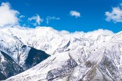 Collina del castello della sommità della neve, Nuova Zelanda Fotografie Stock